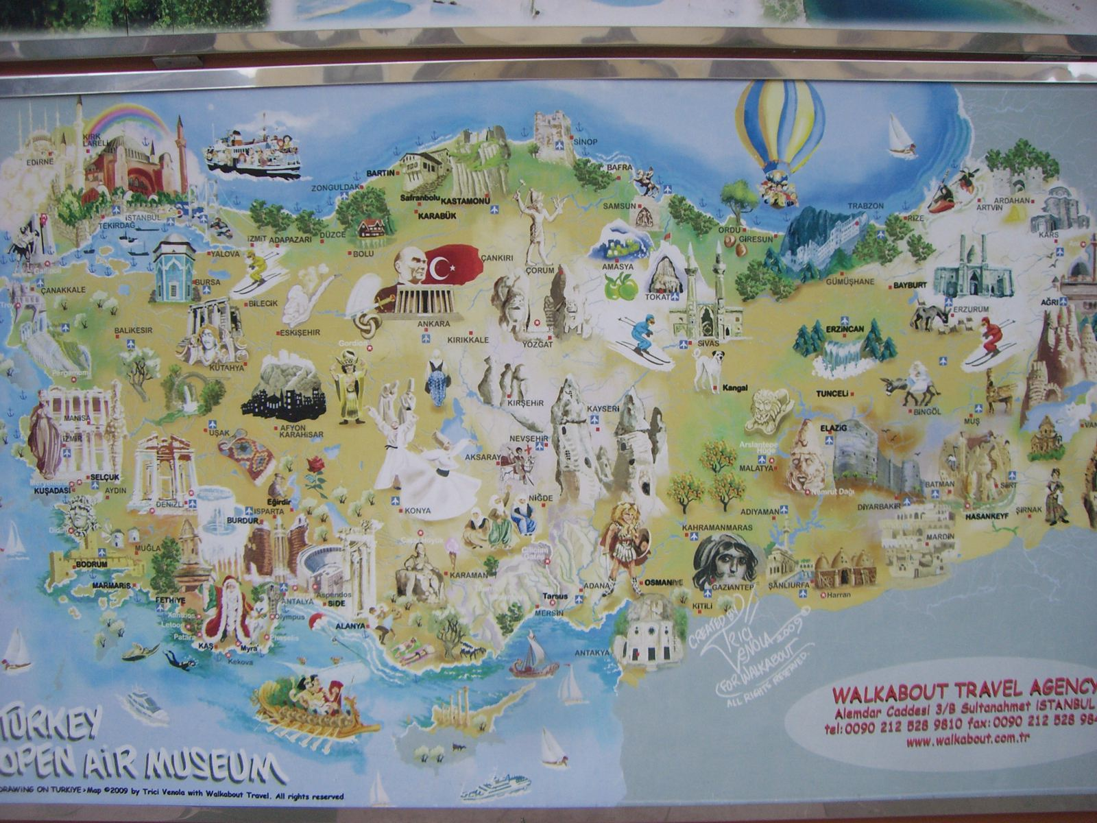 Truthahn Touristische Karte – Turkey Tourist Attractions Map